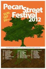 Pecan Street Festival Flyer